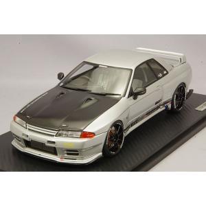 ☆ イグニッションモデル 1/18 トップシークレット GT-R (VR32) シルバー/OZタイプ18インチ(ブラック)|kidbox