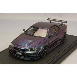 ☆ イグニッションモデル 1/43 ニスモ R34 GT-R Z-tune ミッドナイトパープルIII/ニスモLMGT4 18インチ(ブラック)|kidbox
