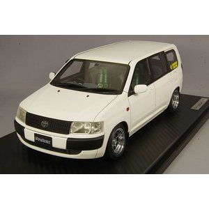 ☆ イグニッションモデル 1/18 トヨタ プロボックス GL (NCP51V) ホワイト/ハヤシストリート14インチ(センターキャップ付)|kidbox