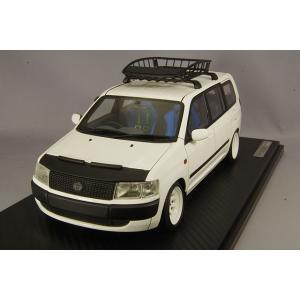 ☆ イグニッションモデル 1/18 トヨタ プロボックス GL (NCP51V) ホワイト/ダイヤモンドレーシングタイプ14インチホイール(ホワイト)|kidbox