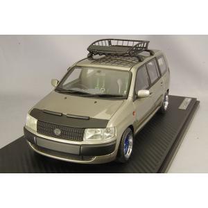 ☆ イグニッションモデル 1/18 トヨタ プロボックス GL (NCP51V) ブラウンメタリック/ワークマイスタータイプ15インチホイール(ポリッシュ&ディープブルー)|kidbox