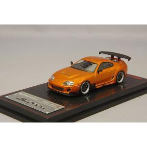 ☆ イグニッションモデル 1/64 トヨタ スープラ (JZA80) RZ オレンジメタリック/BBS LMタイプ19インチ(ポリッシュ/ガンメタリック)|kidbox