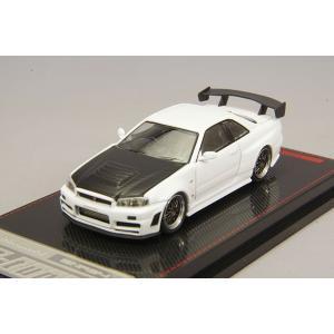 ☆ イグニッションモデル 1/64 ニスモ R34 GT-R Z-tune ホワイト/BBS LMタイプ 19インチ(ポリッシュ/ガンメタリック)|kidbox