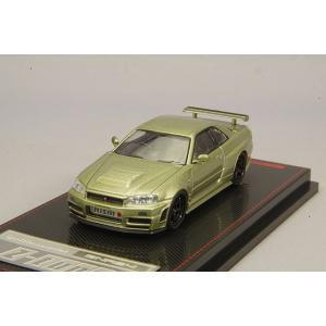 ☆ イグニッションモデル 1/64 ニスモ R34 GT-R Z-tune グリーンメタリック / ニスモLMGT-4 19インチホイール(ブラック)|kidbox