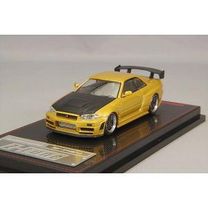 ☆* 海外並行品 イグニッションモデル 1/64 ニスモ R34 GT-R Z-tune ゴールド/BBS LMタイプ19インチ(ポリッシュ/ガンメタ)|kidbox