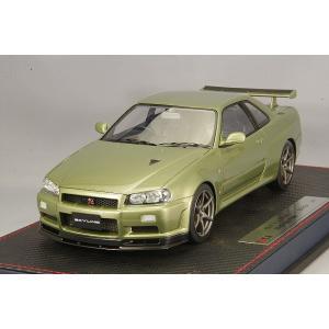 ☆* IDEA (イデア) 1/18 日産 スカイライン GT-R (BNR34) V-specII ニュル 2002 ミレニアムジェイド|kidbox