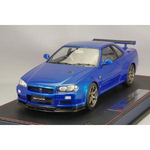 ☆* IDEA (イデア) 1/18 日産 スカイライン GT-R (BNR34) V-specII ニュル 2002 ベイサイドブルー|kidbox