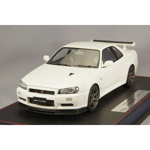 ☆* IDEA (イデア) 1/18 日産 スカイライン GT-R (BNR34) V-specII ニュル 2002 ホワイト|kidbox