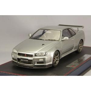 ☆* IDEA (イデア) 1/18 日産 スカイライン GT-R (BNR34) V-specII ニュル 2002 スパークリングシルバー|kidbox