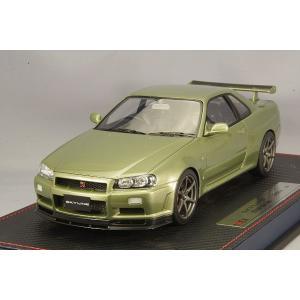☆* IDEA (イデア) 1/18 日産 スカイライン GT-R (BNR34) M-spec ニュル 2002 ミレニアムジェイド|kidbox