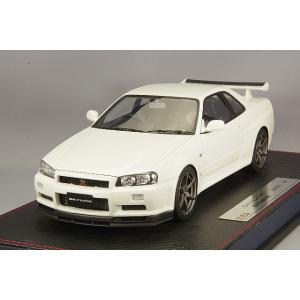 ☆* IDEA (イデア) 1/18 日産 スカイライン GT-R (BNR34) M-spec ニュル 2002 ホワイトパール|kidbox