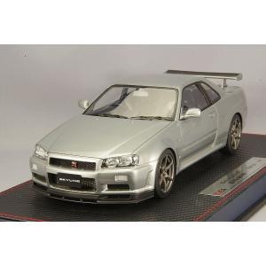 ☆* IDEA (イデア) 1/18 日産 スカイライン GT-R (BNR34) M-spec ニュル 2002 スパークリングシルバー|kidbox
