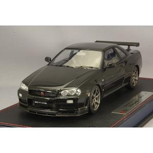 ☆* IDEA (イデア) 1/18 日産 スカイライン GT-R (BNR34) M-spec ニュル 2002 ブラックパール|kidbox