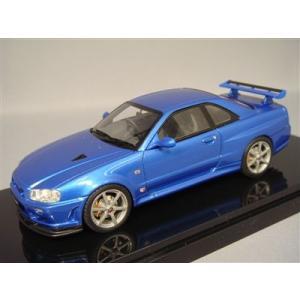 京商/BBR 1/43 日産 スカイライン GT-R VスペックII R34 ブルー|kidbox