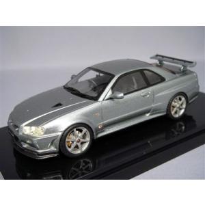 京商/BBR 1/43 日産 スカイライン GT-R VスペックII R34 シルバー|kidbox