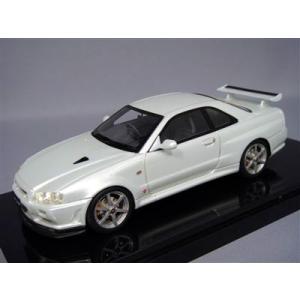 京商/BBR 1/43 日産 スカイライン GT-R VスペックII R34 ホワイト|kidbox