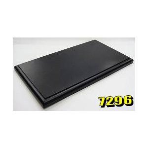 京商 1/18 ディスプレイ木製ベース ブラック (W315 x H19 x D178mm クリアケース(K7282)は別売りです)|kidbox