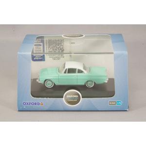 OXFORD 1/76 フォード コンサル カプリ カリビアン ターコイズ/アーミンホワイト kidbox