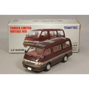 トミカリミテッドヴィンテージ NEO 1/64 トヨタ ハイエース ワゴン スーパーカスタム 92年式 (100系) 暗赤/茶|kidbox