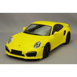 ポルシェ 911 ターボ S (991) 2013 イエロー/ブラックホイール 限定300台 (1/18スケール MINICHAMPS 110062321)の商品画像|ナビ