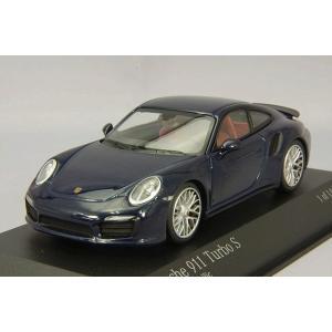 ☆ ミニチャンプス 1/43 ポルシェ 911 ターボ S 2013 ブルーメタリック|kidbox