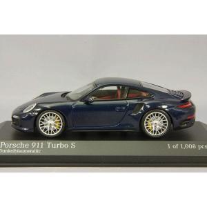 ☆ ミニチャンプス 1/43 ポルシェ 911 ターボ S 2013 ブルーメタリック|kidbox|02