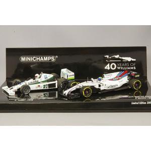 ☆ ミニチャンプス 1/43 ウィリアムズ F1 40周年記念 2台セット フォード FW06 1978 A.ジョーンズ & マルティニ FW40 2017 F.マッサ|kidbox