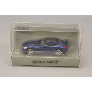 ☆ ミニチャンプス 1/87 メルセデス AMG GTS 2015 ブルーメタリック 【ABS製】|kidbox