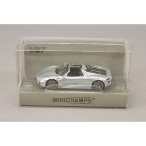 ☆ ミニチャンプス 1/87 ポルシェ 918 スパイダー (2013) シルバーメタリック 【ABS製】|kidbox