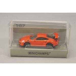 ☆ ミニチャンプス 1/87 ポルシェ 911 GT3 RS (2013) ラバオレンジ 【ABS製】|kidbox