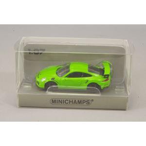 ☆ ミニチャンプス 1/87 ポルシェ 911 GT3 RS (2013) イエローグリーン 【ABS製】|kidbox
