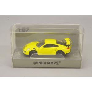 ☆ ミニチャンプス 1/87 ポルシェ 911 GT3 RS (2013) レーシングイエロー 【ABS製】|kidbox