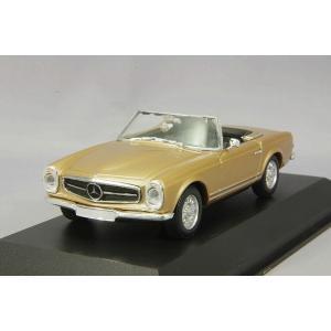 ☆ マキシチャンプス 1/43 メルセデスベンツ 230SL 1965 ゴールドメタリック 【再生産】|kidbox
