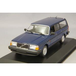☆ マキシチャンプス 1/43 ボルボ 240 GL ブレーク 1986 ダークブルー|kidbox