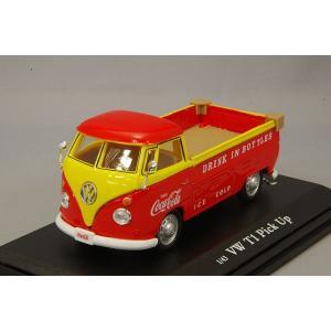 ☆ コカコーラコレクティブルズ 1/43 フォルクスワーゲン ピックアップ  1962 オレンジ/イエロー|kidbox