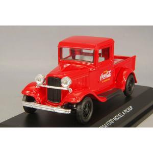 Coca-Cola Collectibles 1/43 フォード モデル A ピックアップ 1934 レッド ボトルカートンケース6個付|kidbox