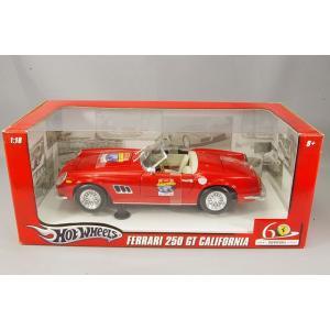 ,マテル 1/18 フェラーリ 250GT カリフォルニア 60th記念モデル レッド 60thロゴ付|kidbox