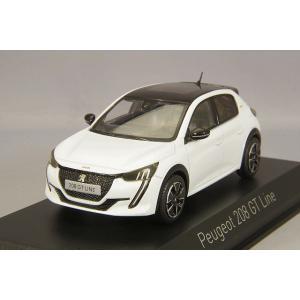 【決算セール〜9/30】ノレブ 1/43 プジョー 208 GTライン 2019 パールホワイト|kidbox