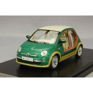 """イタリアのカロッツェリア""""カスターニャ""""が製作したFIAT500ベースのEVカスタムカー。 依頼主は..."""