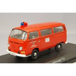 ,シュコー 1/43 フォルクスワーゲン T2 バス バイロイト市消防隊 レッド|kidbox