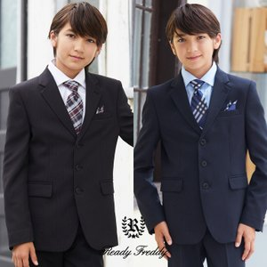 卒業式 小学校 男子 スーツ ピンストライプ3ボタンスーツ 140 150 160 170cm 50...