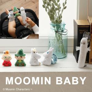 ムーミンベビーのリストラトル。やさしい手触り、赤ちゃんの手首にぴったり。  赤ちゃんの手首に着けて動...