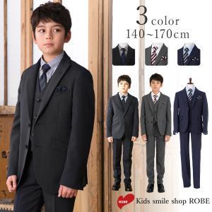 卒業式 スーツ 男の子 ブラックフォーマル 6点セット 14...