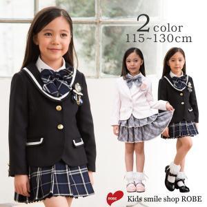 入学式 子供服 女 服 子供 卒園式 スーツ 115 120 130cm 入学式スーツ フォーマル 卒園式 結婚式 七五三 発表会|kids-robe