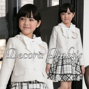 入学式 子供服 女の子 スーツ DECORA PINKY'S デコラピンキーズ 120cm・130cm 子供服 フォーマル|kids-robe