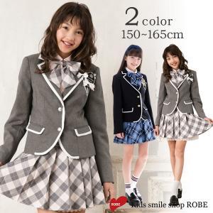 卒業式 スーツ 女の子 5点セット ブラックフォーマル DECORA PINKY'S デコラピンキーズ 子供服 150 160 165 卒服 kids-robe