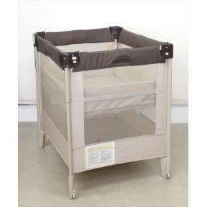 送料無料 ココネル ココアBR 66041 たたんで運べるベビーベッド アップリカ 新生児OK クリーニング済み D8044607|kidsfan