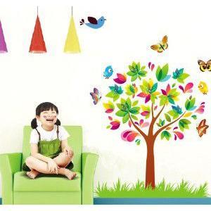 壁紙シール 木と蝶々|kidsfan