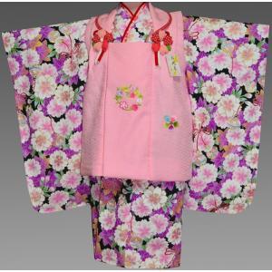 七五三 着物 3歳  753 女の子 被布セット 旧式部浪漫柄被布コートフルセット  10タイプ|kidskimonoyuuka
