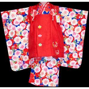 七五三 着物 3歳  753 女の子 被布セット 旧式部浪漫柄被布コートフルセット  2|kidskimonoyuuka